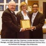BBARWA Receives Distinguished Budget Award