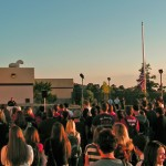 "Big Bear Fire Chief Jeff Willis address the Big Bear High School ""Special Remembrance of September 11, 2001"""