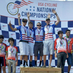 Casey Williams along with team mates on top of the podium