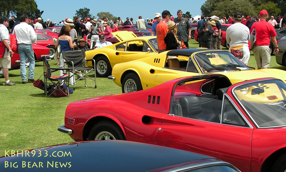 Concorso Italiano displays the finest classic Italian cars including this gathering of the highly desirable Ferrari Dino
