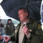 San Bernardino Sheriff John McMahon updates the press regarding search for Dorner.