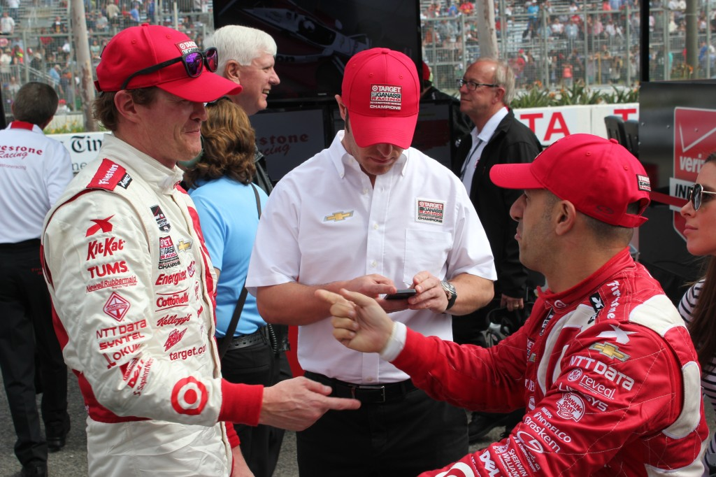 Ryan Hunter-Reay and  Tony Kanaan, Long Beach 2014.  Who's number one?