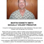 Big Bear Sheriff's Station Releases Warning for Residents of a Sexually Violent Predator