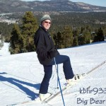 KBHR's Blues Man Rick Bates Rocks Some Old School Skis at Snow Summit