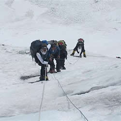 Team Jordan Romero, in a photo taken a few days ago, en route to Advanced Base Camp on Everest.