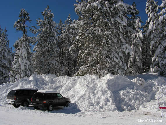 Though the sun is shining and major roads have been cleared of snow, as of Saturday afternoon, all vehicles are still required to have chains, even those with four-wheel drive.