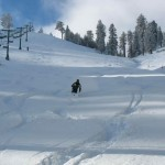 Pow Pow! See, there is plenty of sweet snow to be skied and snowboarded at Snow Summit. (Photo courtesy BBMR)