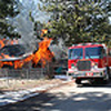 Structure Fire In Big Bear City