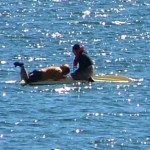 Lucky Kayakers get Quick Rescue from Big Bear Lake Patrol
