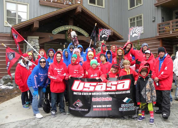 Our local USASA team of riders and skiers were amped up for the opening parade at the USASA National Championships in Colorado--and this was before they scored 23 medals, including eight golds! (Photo courtesy USASA SoCal)