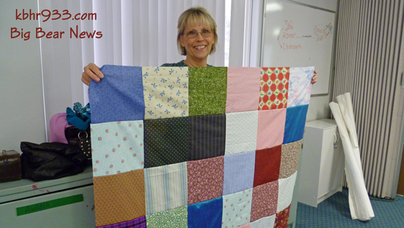 Susan Meyers, a local quilter, helped volunteers piece together quilt tops for boys and girls living in orphanages in Burundi Africa.  First Baptist Church has helped create these orphanages, and volunteers are making quilts for 33 boys and 33 girls.