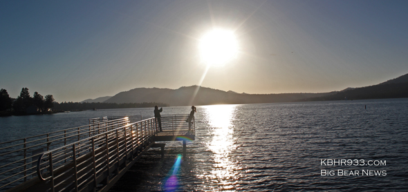 Big Bear Lake - A couple enjoying the partial sun eclipse - May 20, 2012 - 6:45 PM
