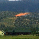 Small Vegetation Fire Near Erwin Lake