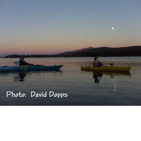 Paddle Under the Moon on Big Bear Lake