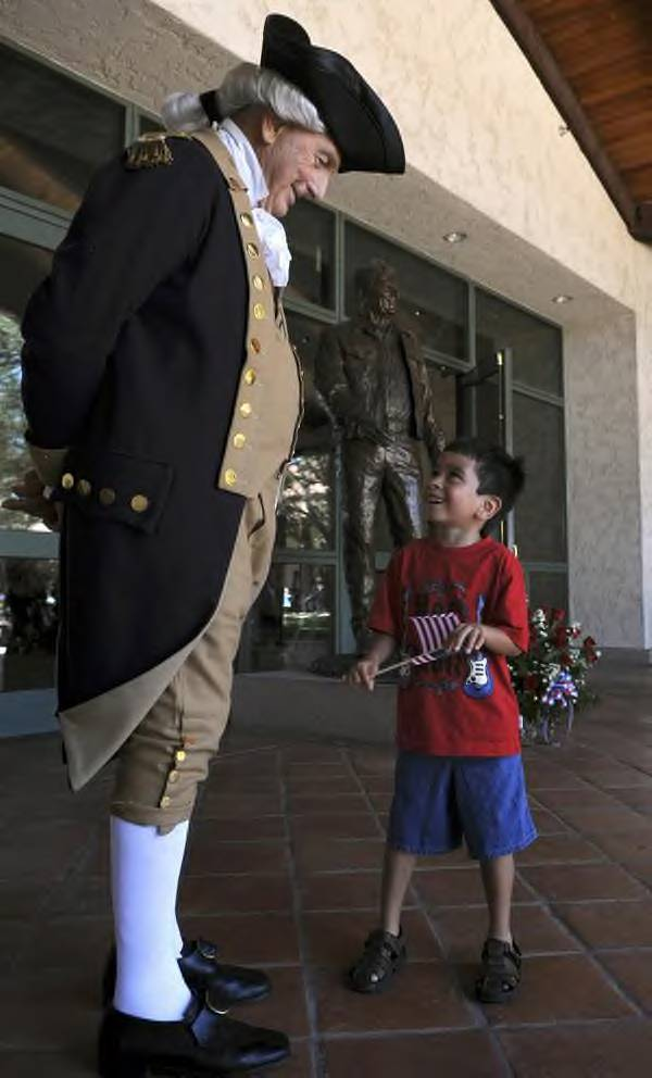 """George Washington"" at the Ronald Reagan Presidential Library and Museum"