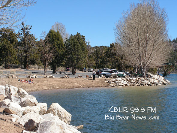 At the Beach on Big Bear Lake April 1, 2011