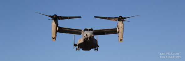 The Marines visit Big Bear Airport with the Osprey VTOL MV-22