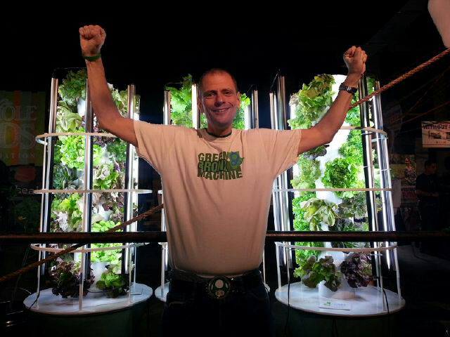Stephen Ritz with typical Tower Gardens