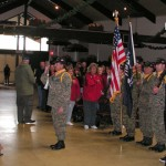 Veteran's Day, 2011, was held indoors due this year.  Member of the Wounded Warriors joined the ceremony along with local military veterans from the Big Bear Valley and community members.