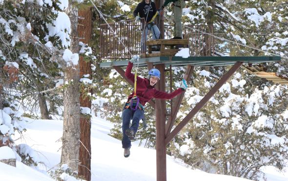 take to the air ziplining in big bear. Black Bedroom Furniture Sets. Home Design Ideas